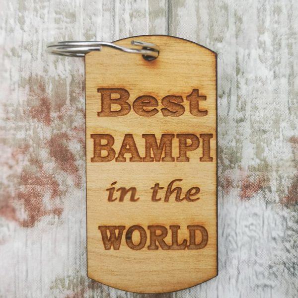 Best Bampi In The World Keyring