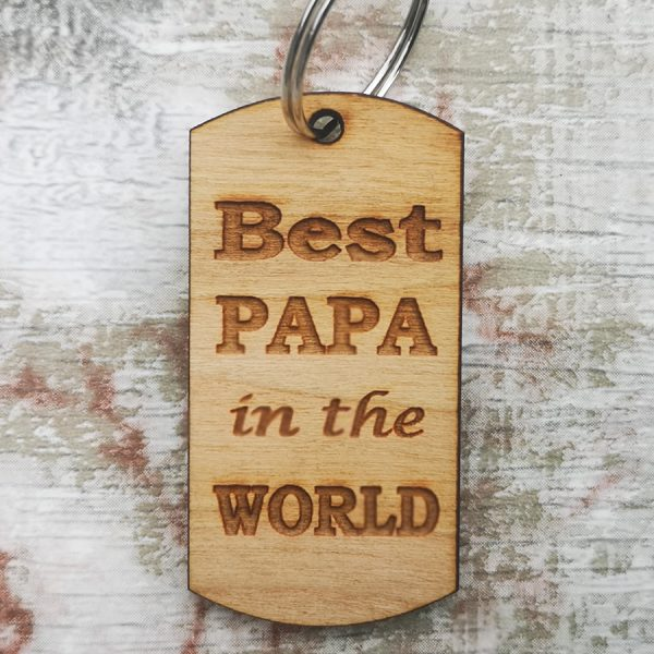 Best Papa In The World Keyring