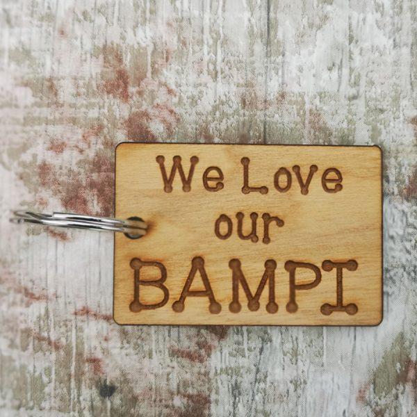 We Love Bampi Rectangle Keyring