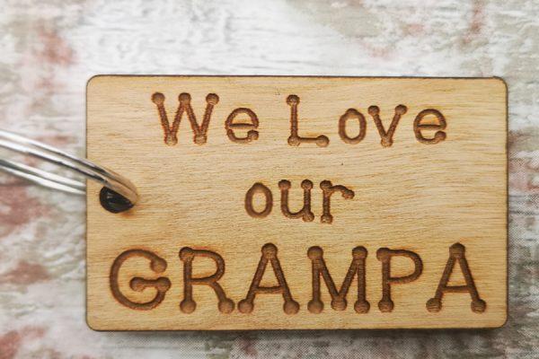 We Love Grandpa Rectangle Keyring