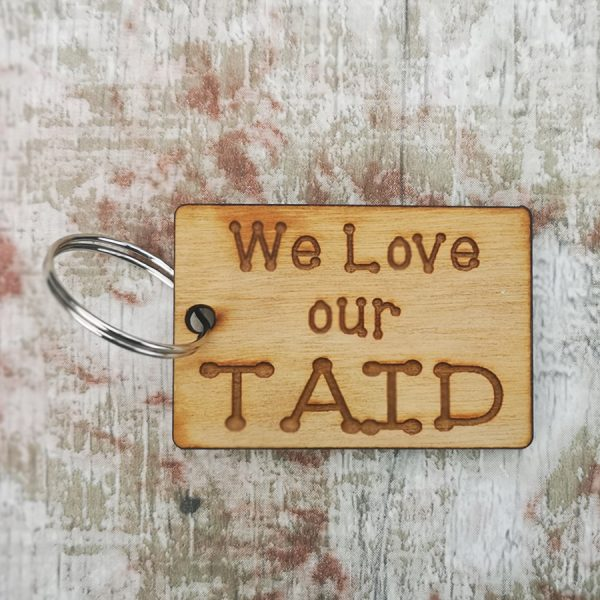 We Love Taid Rectangle Keyring
