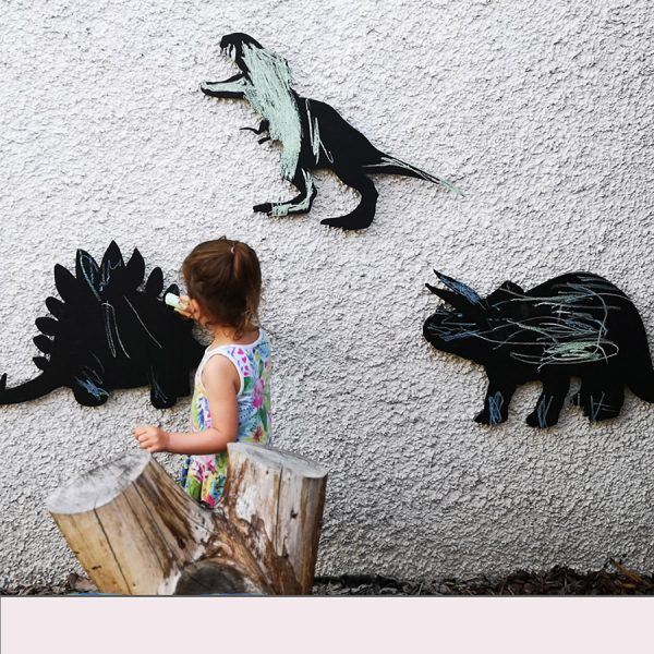 Dinosaur Chalkboard 3 Piece Set (Outdoor + Indoor)