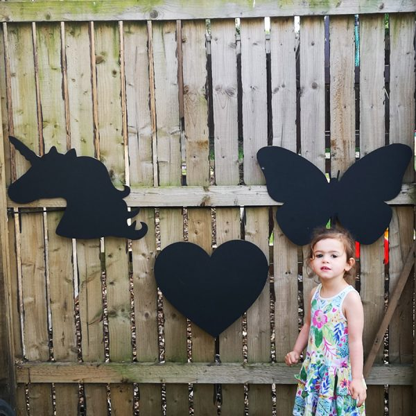 Heart |Butterfly|Unicorn Chalkboard Set (Outdoor + Indoor)