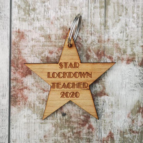 Lockdown Teacher Leaving Star Keyring