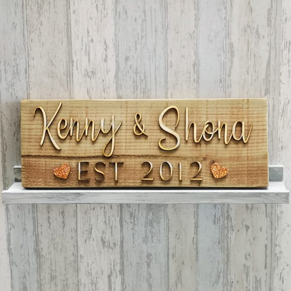 rustic house sign